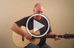 Thomas Rein Guitar Model R-1, Chris Griffith performing slow blues